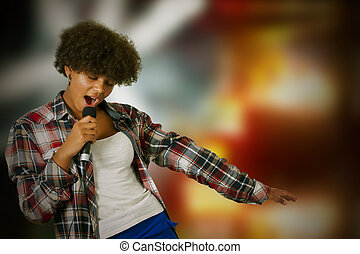 backlights, girl, chant