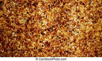 Backlit amber wall abstract structure