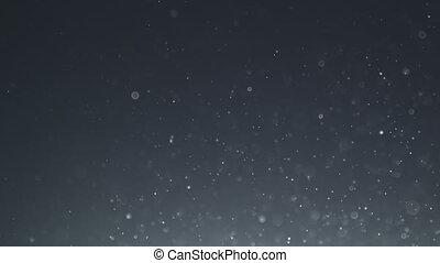 backlit, bokeh, aimer, flotter, particules, poussière, lent, bulle, mouvement
