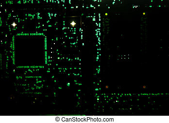 backlit circuit board - Backlit circuit board showing the...