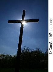 backlit cross