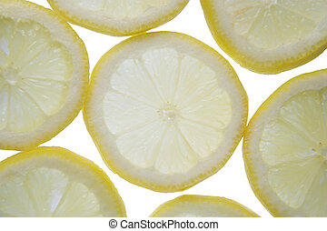 Backlit lemon - Backlit slices of fresh lemon