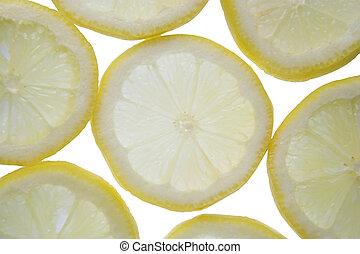 Backlit lemon - Backlit slices of fresh lemon