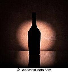 Backlit liquor bottle
