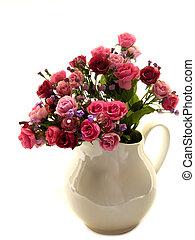 Backlit Roses - Roses (faux) in vase (backlit)