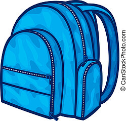 (backpack, שקית, בית ספר, bag), ארוז