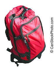 Backpack - A red backpack isolation