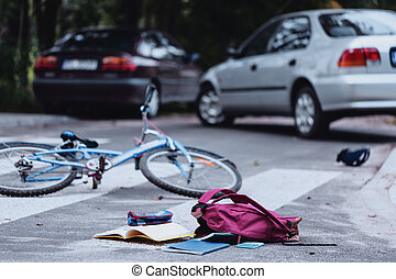 Child hit by a car