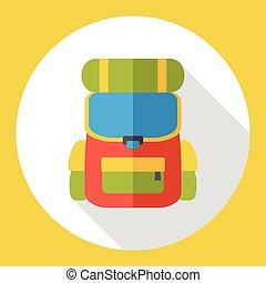 backpack bag flat icon