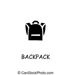 Backpack flat vector icon