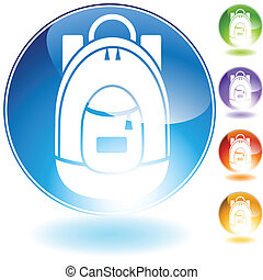 backpack icon crystal