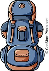 Backpack icon. Flat design. Vector isolated illustration
