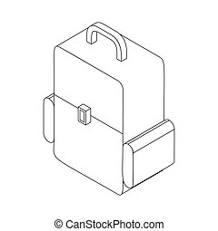 Backpack icon. isometric 3d style