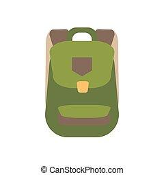 Backpack illustration vector