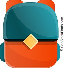 backpack in cartoon style, vector illustration.