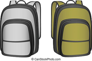 backpack in the vector - sports backpack in vector on white...