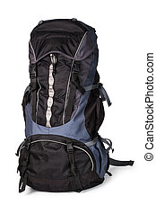 backpack, isolated over white