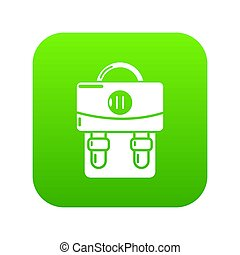 Backpack luggage icon green