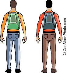 backpack, person