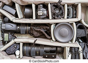 Backpack Photography Set - Backpack Photography Equipment. ...
