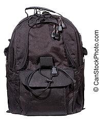 backpack - black backpack on white background