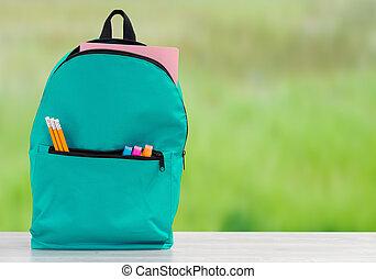 Backpack school - Backpack with school supplies