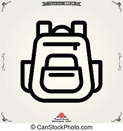 Backpack solid icon. Luggage symbol design, designed for web and app. Eps 10