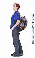 Backpacker girl