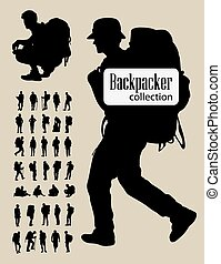 Backpacker Silhouettes