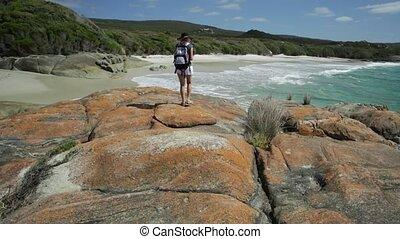 Backpacker travel photographer in Western Australia