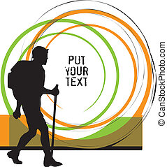 Backpacker. Vector illustration