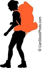 backpacker, vector