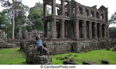 backpacker, wat, angkor
