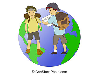 Backpackers or travellers