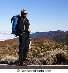 Backpacking on Tenerife. Picture from Teide, Tenerife.,