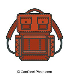 Backpacks or rucksack vector flat icon - Backpack or...