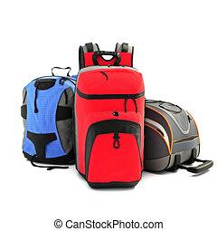 backpacks., sport, andando gita