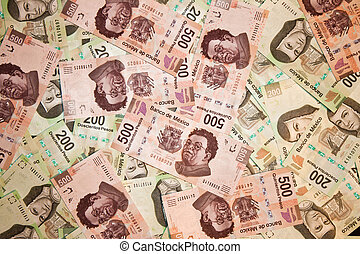 backround, contas, pesos mexicanos