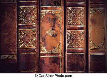 backs of vintage books
