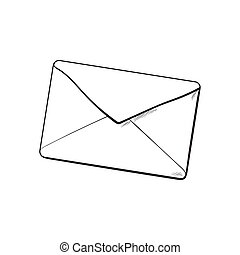 Backside of envelope , love letter