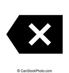 Backspace Button Web Icon - msidiqf