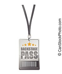 backstage pass illustration design