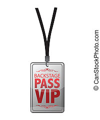 Backstage pass vip illustration design isolated over white