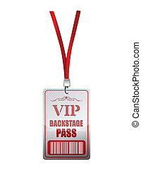 Backstage pass vip illustration design over a white background