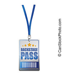 Backstage pass vip illustration design over a white...