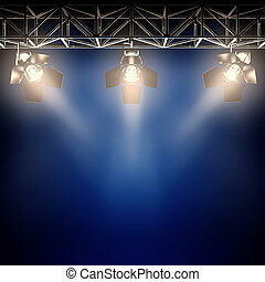 Backstage spotlights.