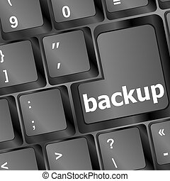 Backup computer key in black for archiving and storage