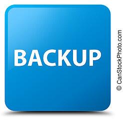 Backup cyan blue square button