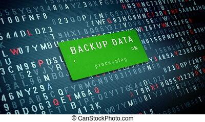 Backup data - Progress bar of Backup Data process on the...
