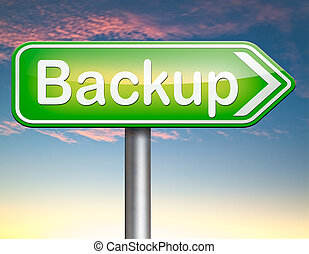 backup data - Backup data and software on copy in the cloud...